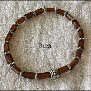 Brown stretch bracelet